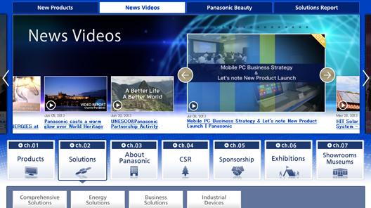Channel Panasonic's Official Channel on YouTube has a new look!