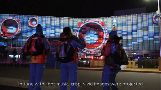 Panasonic projectors powered Coca-Cola's projection mapping event at Sochi 2014