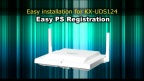Panasonic KX-UDT/UDS series Easy PS Registration