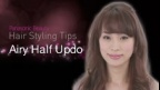 Hair Styling Tips: Airy Half Updo | Panasonic Beauty
