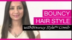 Bouncy Hair  Style | Panasonic Beauty Hair Styling Tips