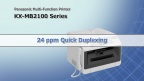 KX-MB2100 series Quick Duplexing feature