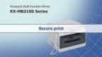 KX-MB2100 series Secure Print feature