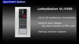 Panasonic Video Intercom System for Apartment(Lobby Station VL-V590 for Middle East, Asia)