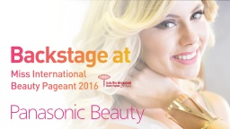 Backstage at the Beauty Pageant | Panasonic Beauty