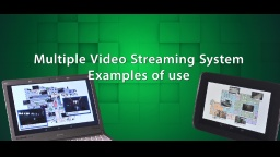 Multiple Video Streaming System [Use Cases]