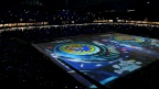 Super bright projectors create first field mapping in the history of Japanese football