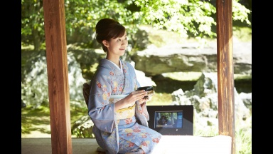 Camera Sharing Service PaN at Two Temples in Kyoto