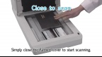 "Panasonic Document Scanner KV-SL3066/SL3056: ""Close to scan"""