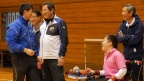 Chairman Nagae visits the Japan Boccia Associations' training camp