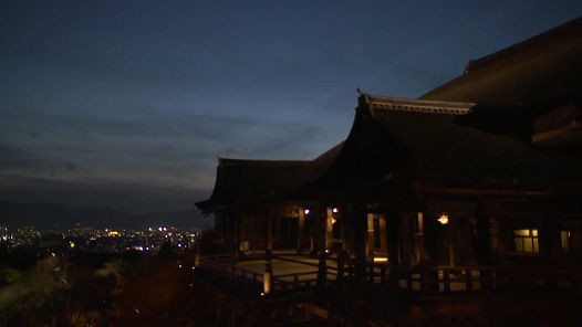 Panasonic casts a warm glow over World Heritage sites -Kiyomizu-dera-