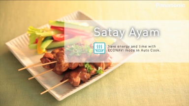 "Panasonic Cooking recipes for NN-CS894 ""Satay Ayam"""